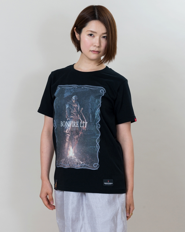 BONFIRE LIT T-SHIRT DARK SOULS x TORCH TORCH