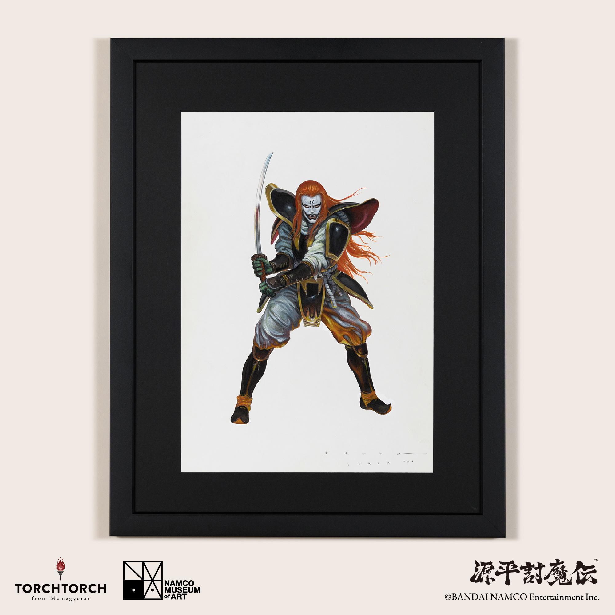Genpei Touma Den Key Visual by Katsuya Terada NAMCO MUSEUM of ART × TORCH TORCH
